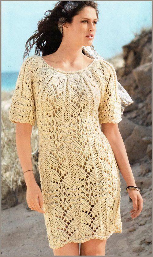 Ажурне плаття спицями: поради майстриням, як його пов`язати