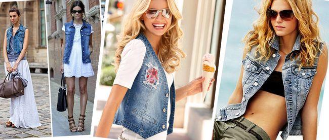 Джинсові жилетки 2017: модний фото огляд жіночих джинсових жилетів