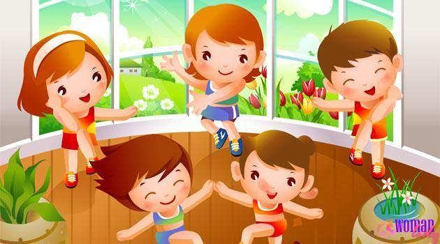 Физминутки в дитячому садку