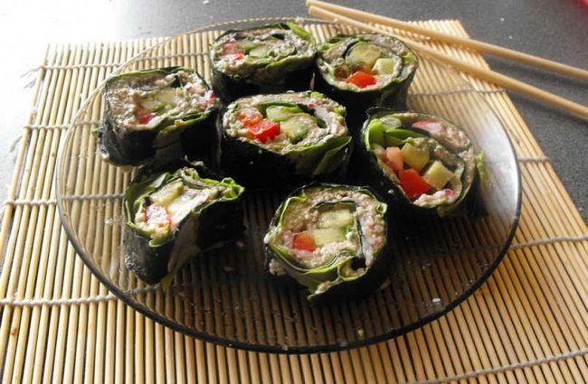 Як приготувати вегетаріанські та сироедние роли без риби