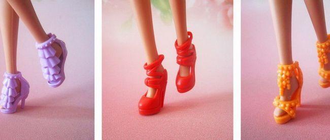 Як зробити туфлі для ляльки барбі?