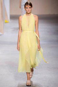 Сукня без рукавів на кожен день жовтого кольору, приталені силуети, довжиною нижче колін від Boss.