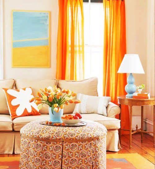 помаранчеві фіранки