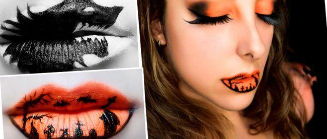 Малюнки Хеллоуїн на губах