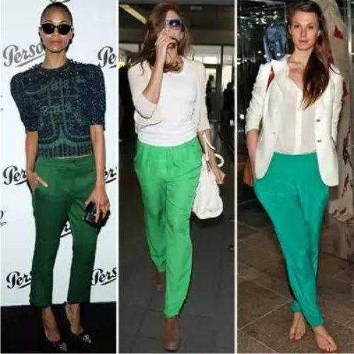 З чим влітку носити зелені штани, які моделі популярні в цьому сезоні