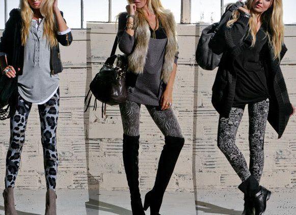 З чим можна носити сірі легінси і якого типу фігури підійде такий наряд