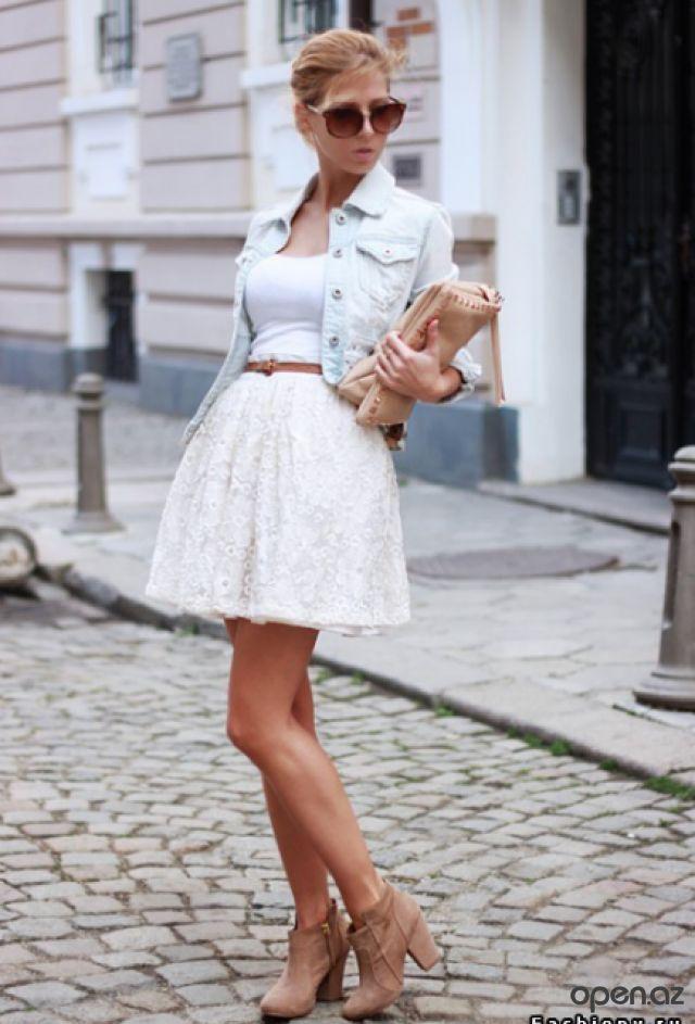 З чим носити білу мереживну спідницю різної довжини: поради стилістів