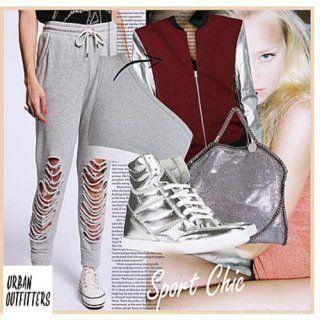 Оригінальні жіночі штани в спортивному стилі.