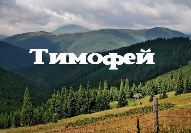 Тимофій. Значення імені тимофій. Підходять тимофій