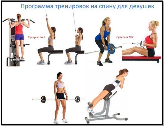 Тренування м`язів спини: спеціальні вправи для чоловіків і для жінок