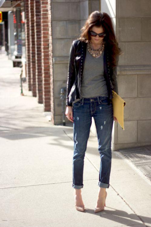Жіночі джинси бойфренди: фото образів 2017 року