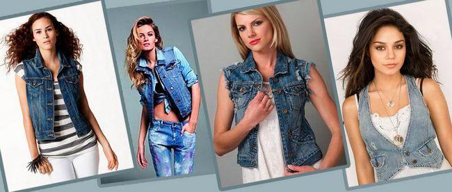 Жіночий джинсовий жилет: модні образи 2017-2016